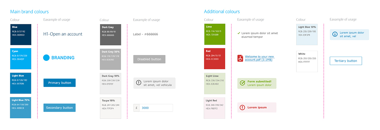 User Interface Colour Branding