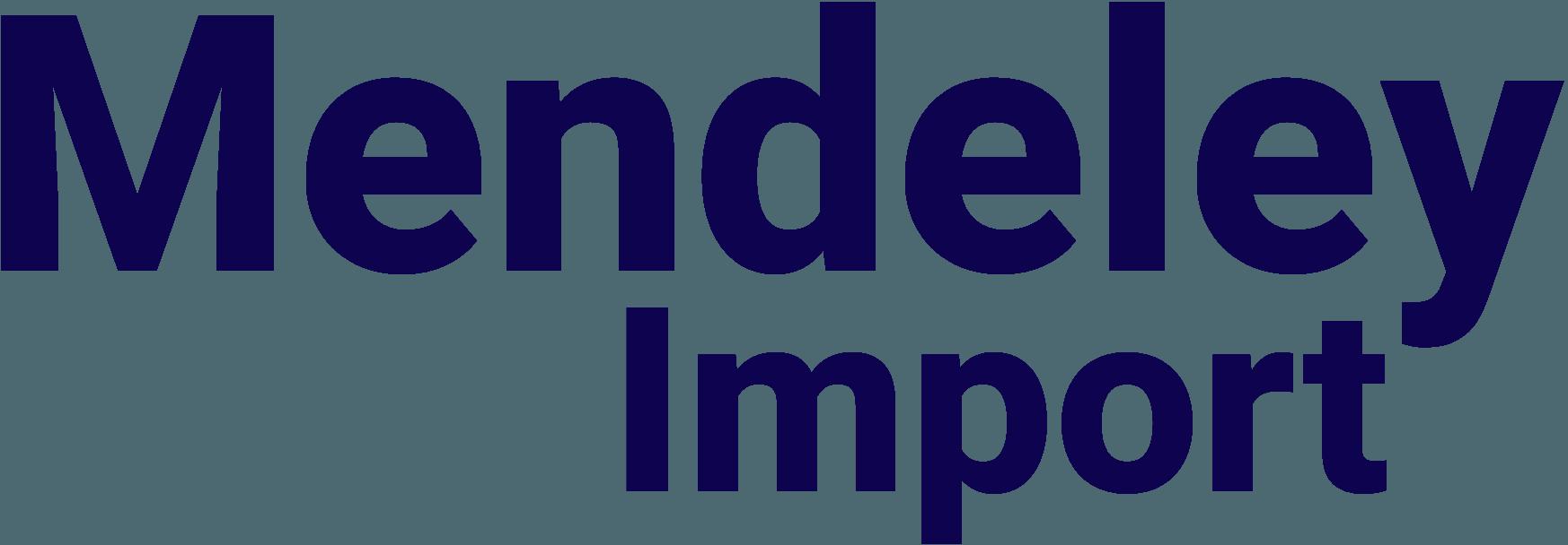 Mendeley Import
