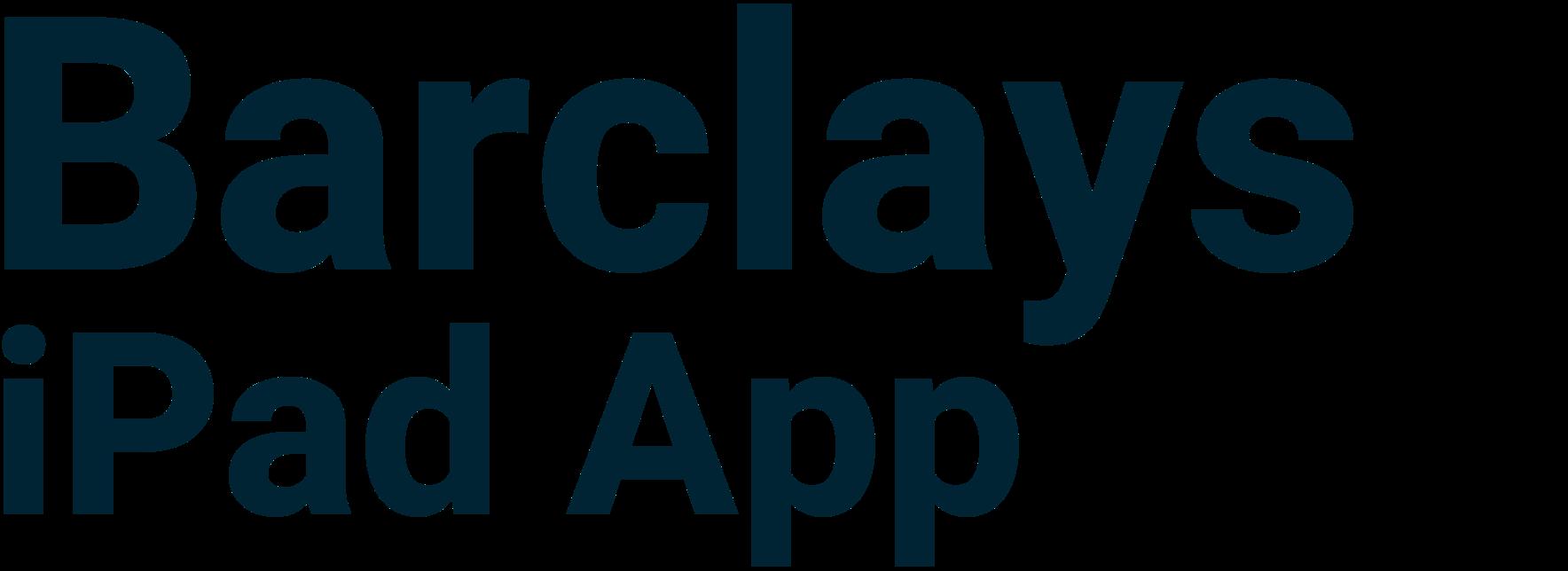 Barclays iPad App